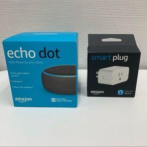 Bundle Alexa Echo Dot 3rd Gen & Amazon Smart Plug